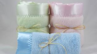 2 Large 1 Mini Minky Plush Blanket Combo