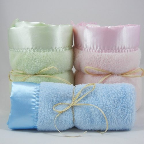 2 Large 1 Mini Minky Plush Blanket Combo