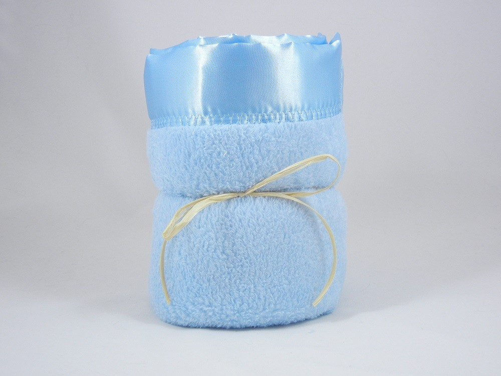 Minky Plush Large Blanket Blue