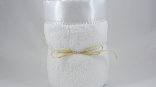 Minky Plush Large Blanket White