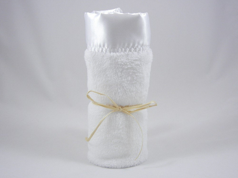 Minky Plush Mini Blanket White