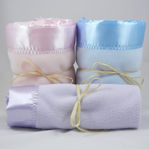 2 Large 1 Mini Polar Fleece Blanket Combo