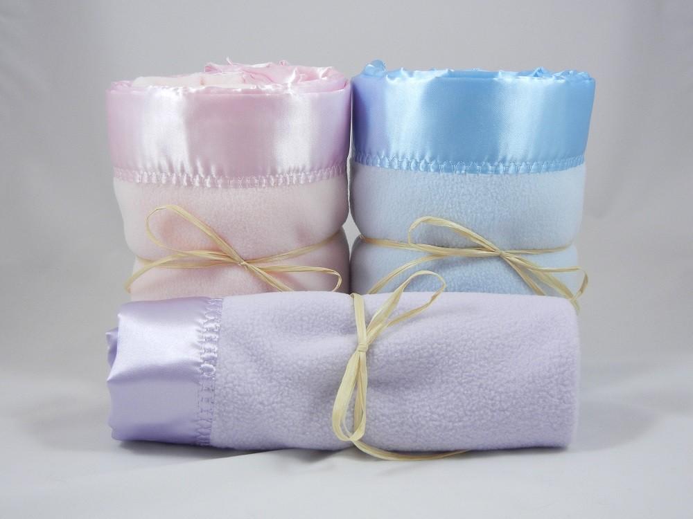 2 Large 1 Mini Polar Fleece Blanket Combo