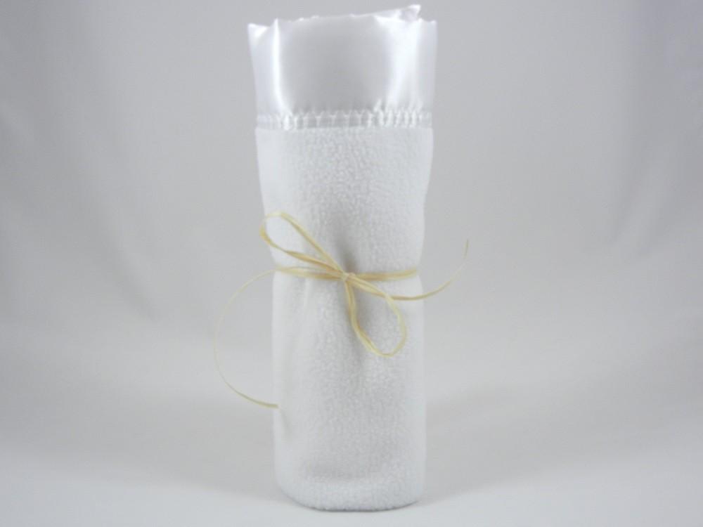 Polar Fleece Mini Blanket White
